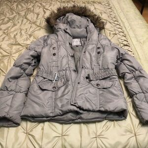 Dollhouse warm comfy jacket with detachable hoodie